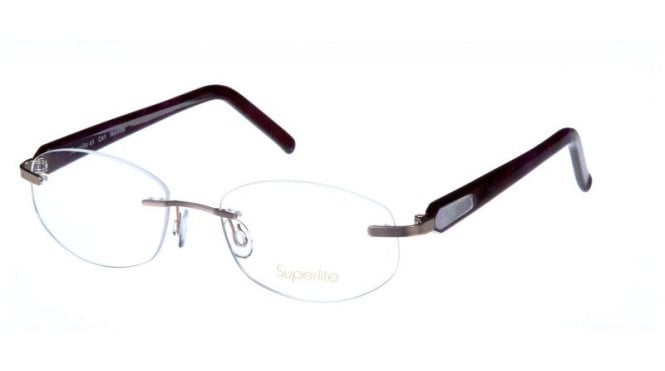 Superlite 41 - Stainless Steel Rimless Glasses