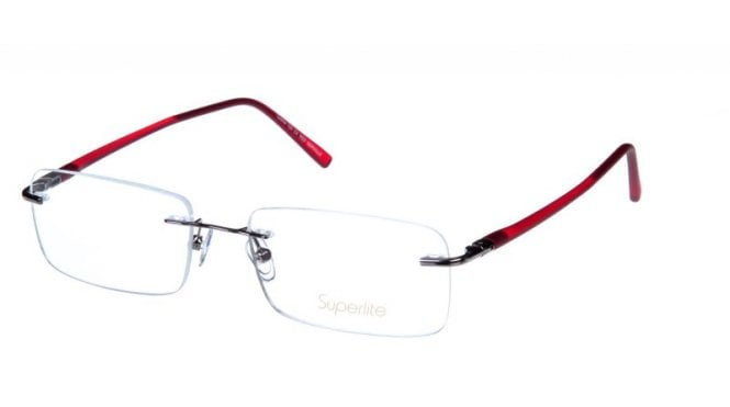 Superlite SL104 - Stainless Steel Rimless Glasses