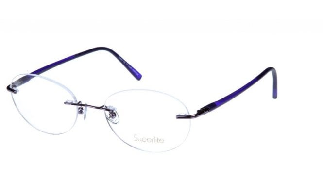Superlite SL105 - Stainless Steel Rimless Glasses