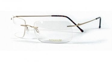 Superlite Titanium Rimless Superlite 18 Wrap - Titanium Rimless Glasses