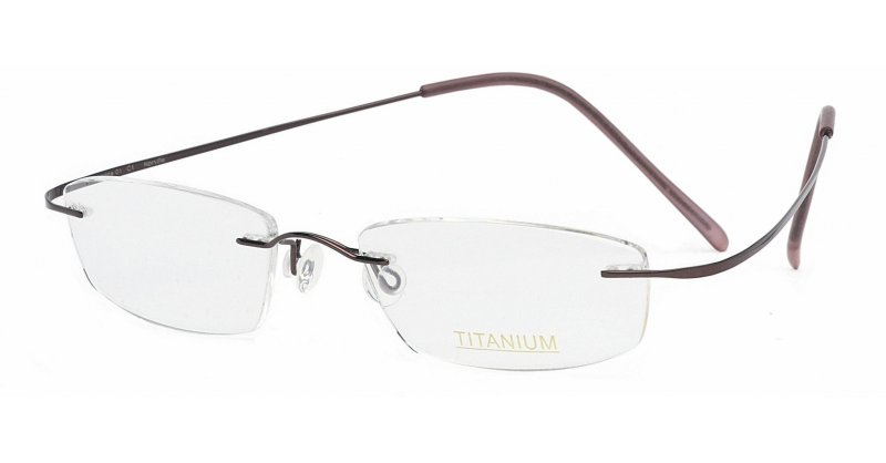 Superlite Titanium Rimless Glasses