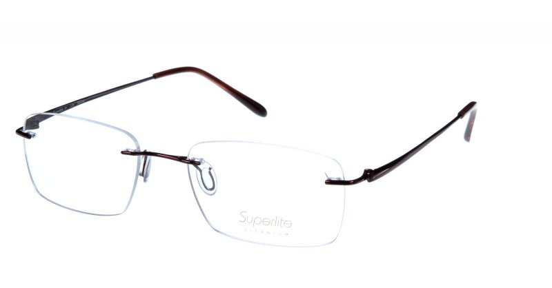 Rimless Glasses Titanium : Superlite 37 - Titanium Rimless Glasses