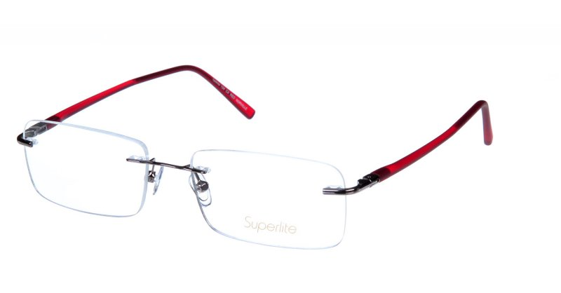 Rimless Glasses Edge Polish : Superlite SL104 - Stainless Steel Rimless Glasses