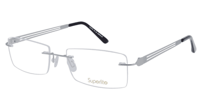 Superlite SL48 - Titanium Rimless Glasses
