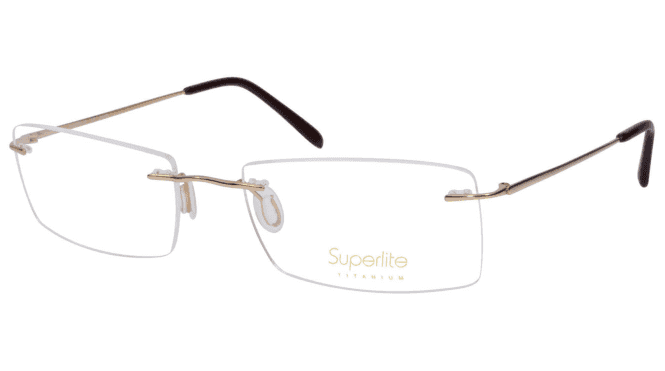 Superlite SL50 - Titanium Rimless Glasses
