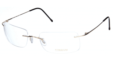 Superlite 18 Wrap - Titanium Rimless Glasses